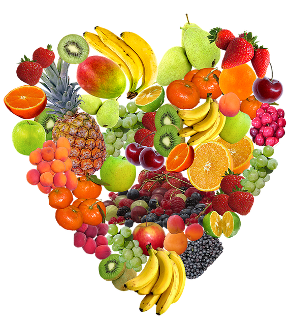 Heart, Fruit, Isolated, Healthy, Eat, Fruits, Vitamins