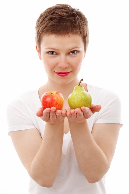 Apple, Diet, Face, Food, Fresh, Fruit, Girl, Isolated