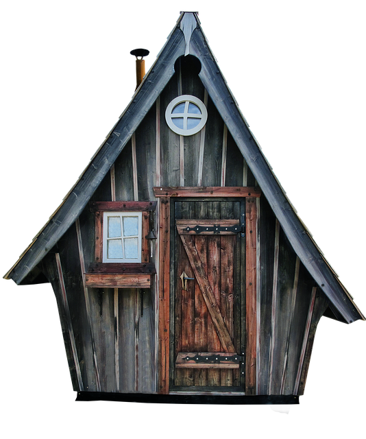 Woodhouse, Hut, Witch's House, Isolated, Log Cabin