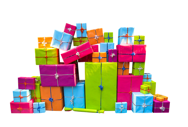 Christmas, Give, Packages, Isolated, Joy, Surprise