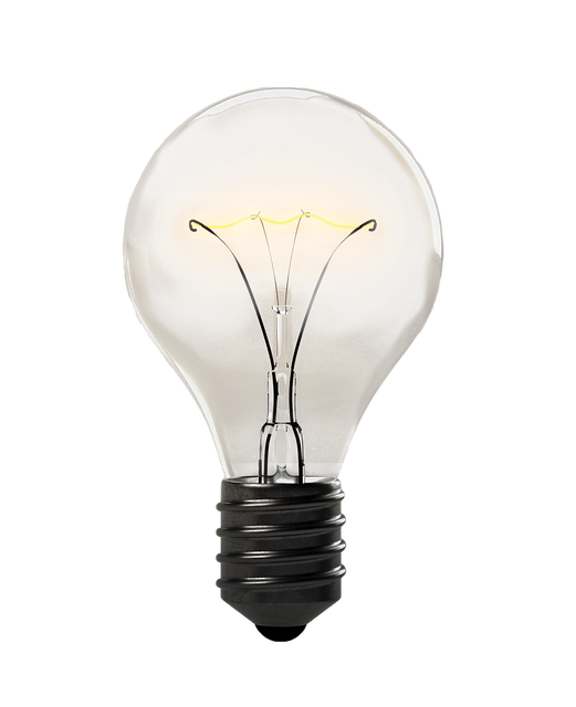 Light Bulb, Isolated, Transparent, Electricity, Lamp