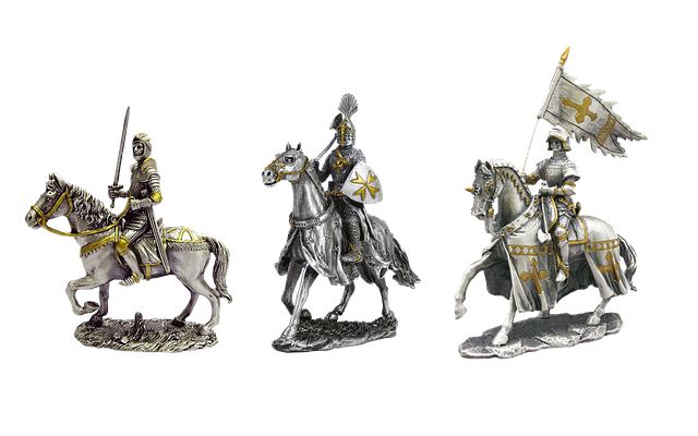 Knight, Horse, Armor, Middle Ages, Isolated