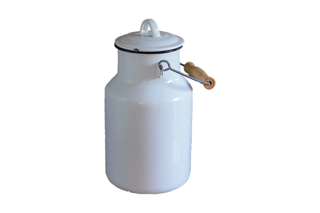 Milk Can, White, Isolated