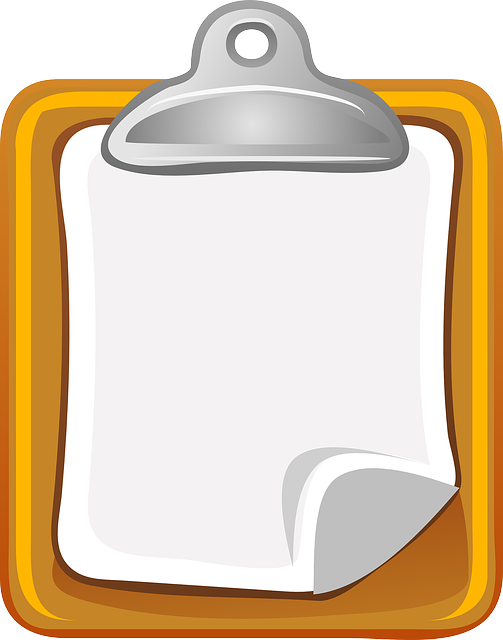 Clipboard, Paper, Holder, Notepad, Blank, Isolated, Pad