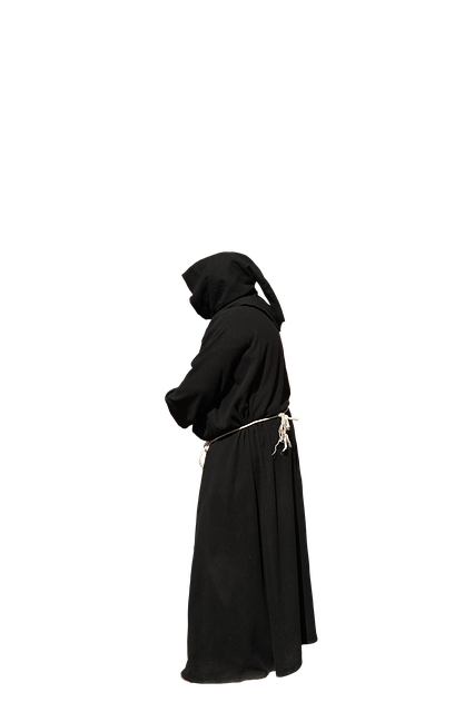 Monk, Habit, Black, Isolated, Png
