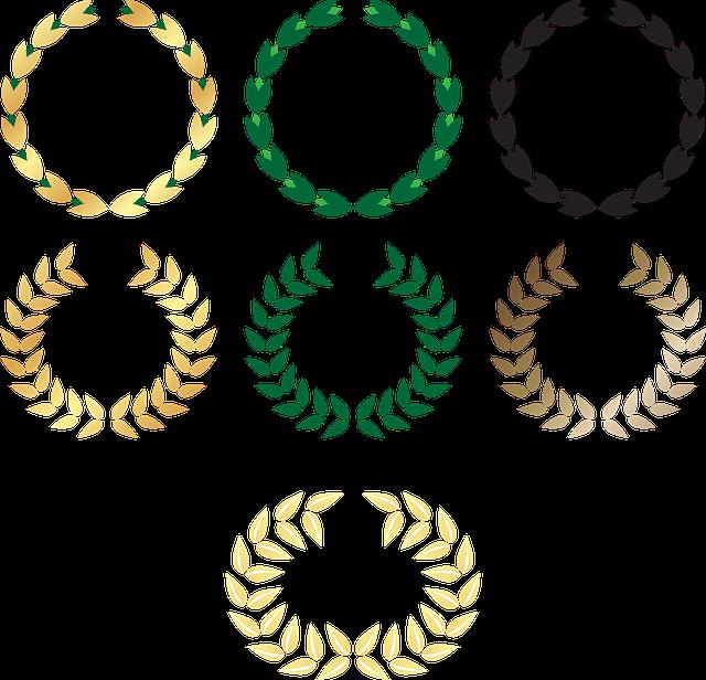 Wreath, Laurel, Award, Isolated, Frame, Icon, Trophy