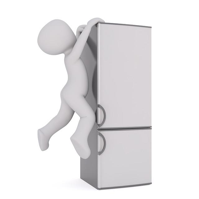 Refrigerator, White Male, 3d Model, Isolated, 3d, Model