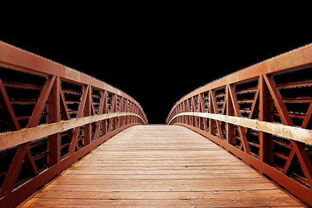 free photo isolated wooden bridge transparent bridge