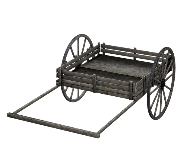 Cart, Wooden Cart, Dare, Isolated