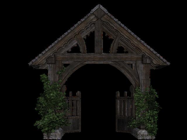 Goal, Garden Gate, Wooden Gate, Passage, Isolated