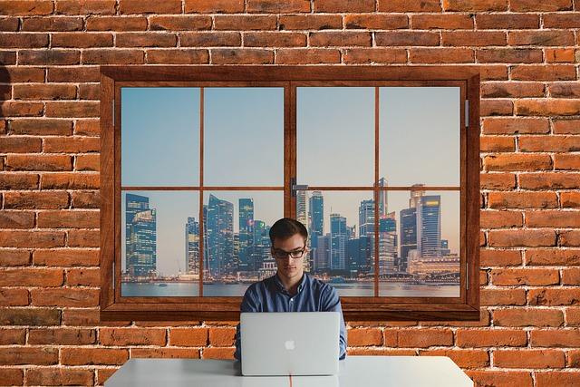 Man, Working, It, Information Technology, Computer