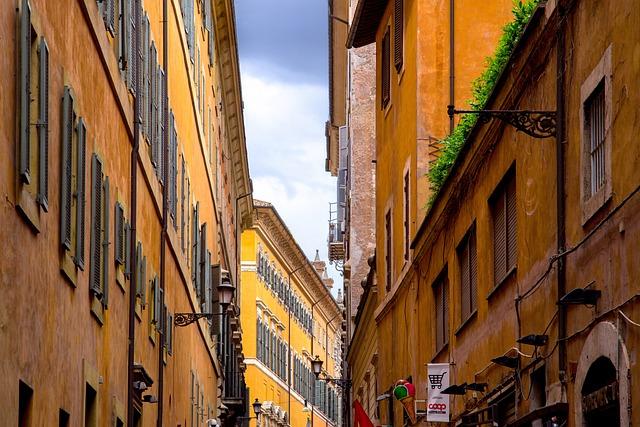 Street, Architecture, Italian, Roman, Building, House