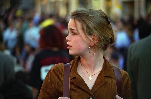 Girl, Woman, Portrait, Look, Roma, Italy 1995