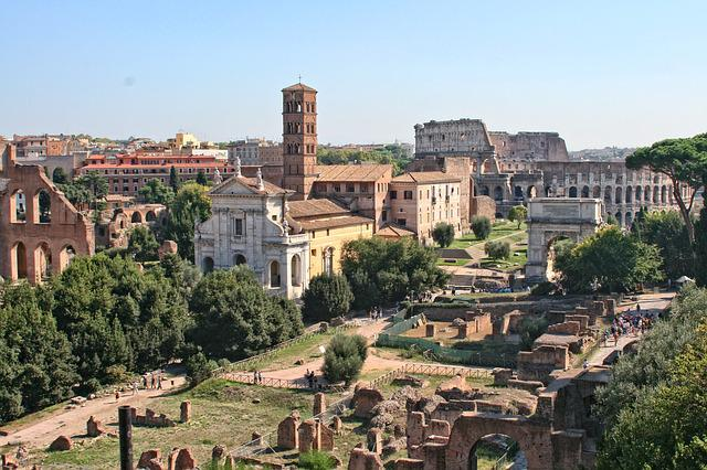 Italy, Rome, Roman Forum, Ancient Architecture