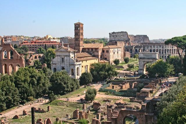 Italy, Rome, Roman Forum, Ancient Architecture