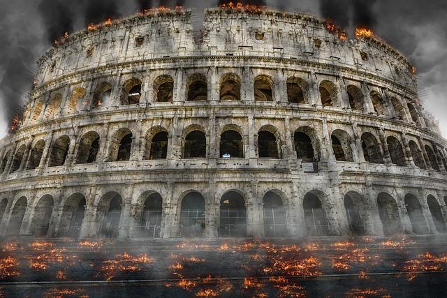 Colosseum, Italy, Landmark, Coliseum, Architecture