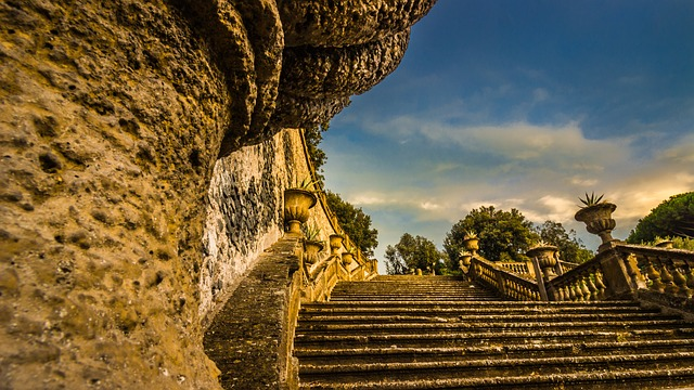 Frascati, Rome, Stairs, Italy, Architecture, Roman