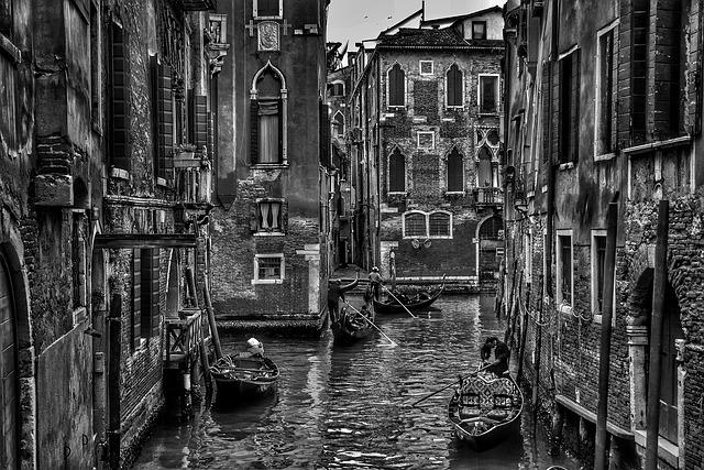Venice, Italy, Gondola, Boat, Canal, Water, City, Urban