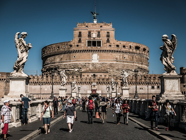 Colosseum, Rome, Bridge, Architecture, Landmark, Italy