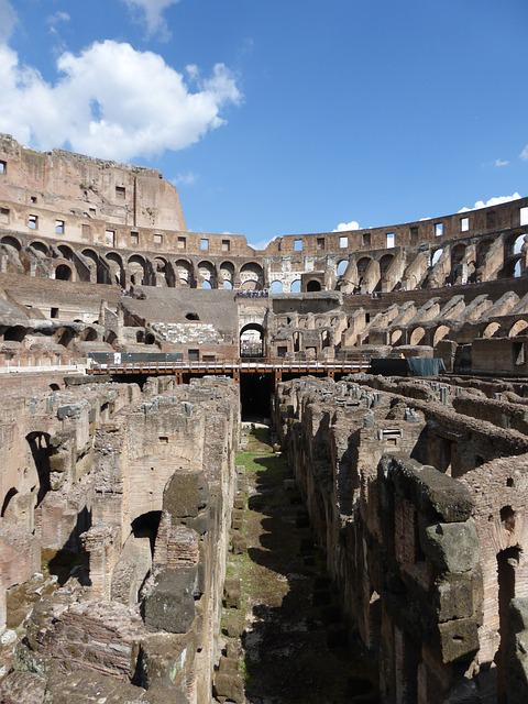 Colosseum, Rome, Italy, Architecture, Buildings, Ruins