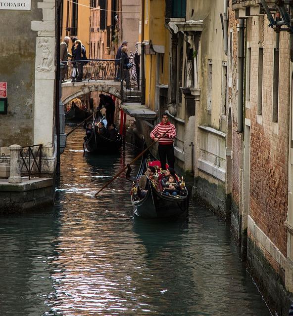 Venice, Gondola, Italy, Travel, Canal, Italian
