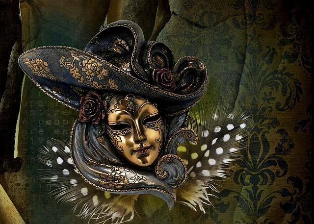 Carneval, Venetian, Mask, Venice, Italy, Europe