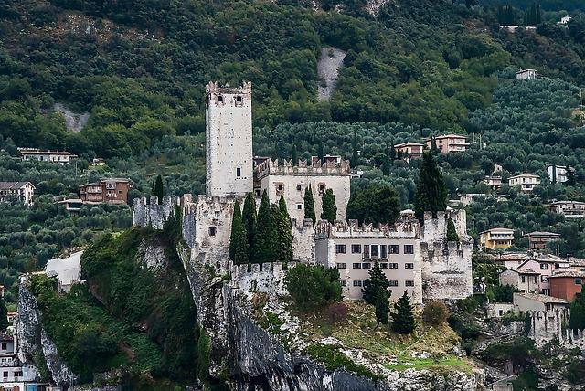 Italy, Garda, Malcesine, Castle, Holiday, Building