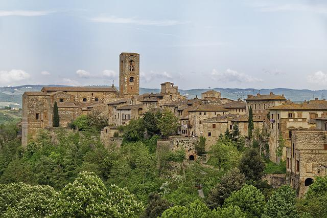 Italy, Tuscany, Colle Di Val D'elsa, Historic Center