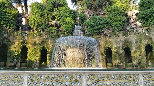 Tivoli, Villa, D'este, Villa D'este, Rome, Italy