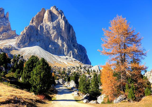 Dolomites, Sassolungo, Mountains, South Tyrol, Italy