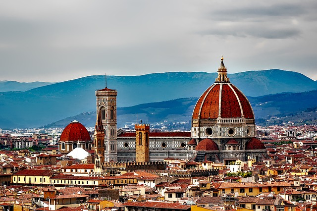Florence, Italy, City, Urban, Skyline, Buildings