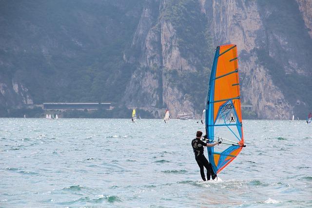 Garda, Surfer, Surf, Water Sports, Surfboard, Italy