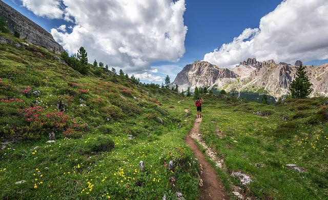 Dolomites, Hiker, Landscape, Rock, Girl, Italy, Hiking
