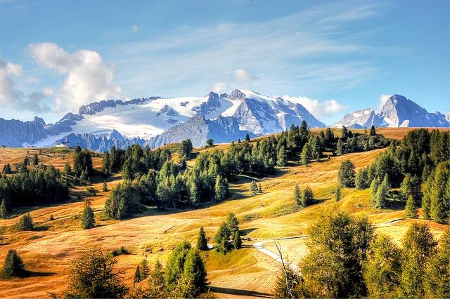 Marmolada, Dolomites, Italy, Alpine, Mountains