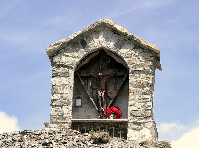 Image Stock, South Tyrol, Memorial, Summit, Italy