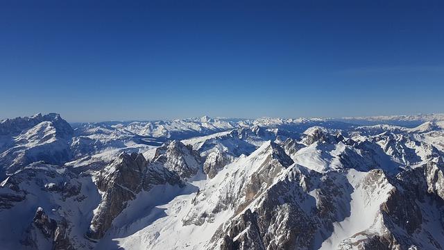 Alps, Mountains, Winter, Landscape, Italy, Mountain