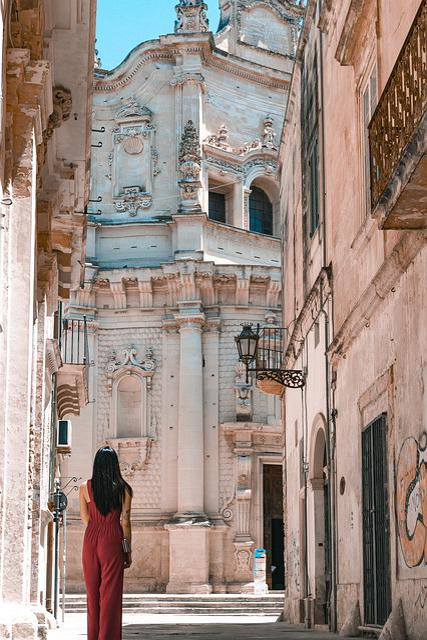 Church, Lecce, Apulia, Puglia, Italy, Painting