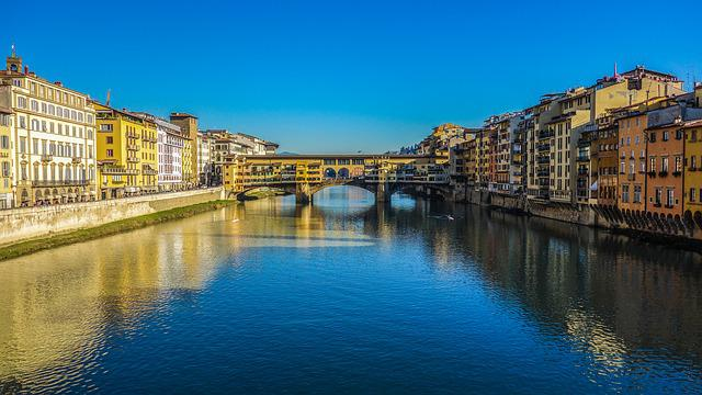 Florence, Ponte Vecchio, Bridge, Italy, Water, River