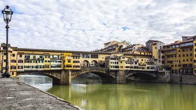Florence, Ponte Vecchio, Bridge, Italy, Water, River
