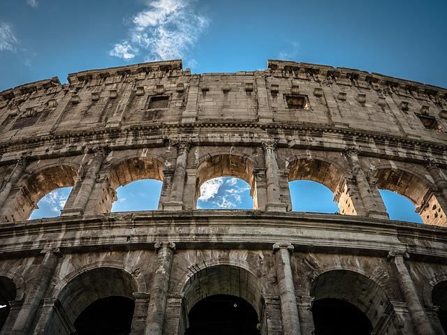 Colosseum, Rome, Italy, Landmark, Architecture, Europe