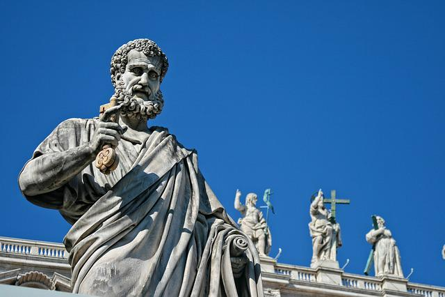 Italy, Rome, Vatican, Saint Pierre, Sculpture