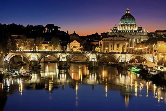 Rome, Vatican, City, Italy, Tiber, St Peter's Basilica
