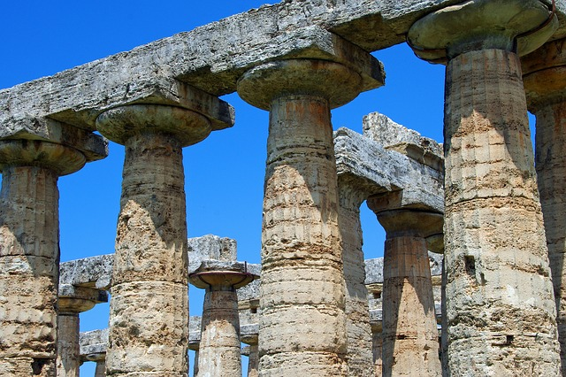 Paestum, Salerno, Italy, Greek Temple, Columns