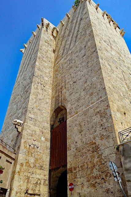 Sardinia, Cagliari, Italy, Old Town, Elephant Tower