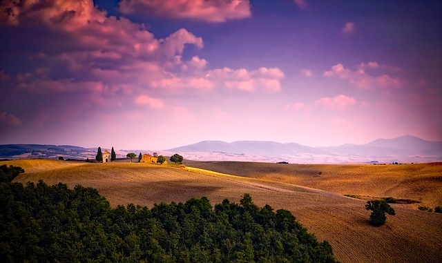 Italy, Sky, Clouds, Sunset, Dusk, Landscape, Scenic