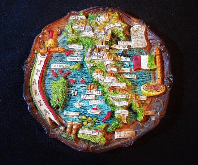 Souvenir, Italy, Memory, Mitbringsel, Wall Plate