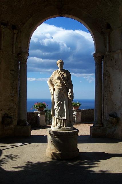Italy, Statue, Villa Cimbrone, Amalfi Coast, Ravello