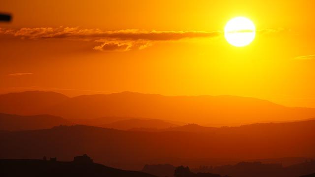 Tuscany, Sunset, Italy, Landscape, Holiday