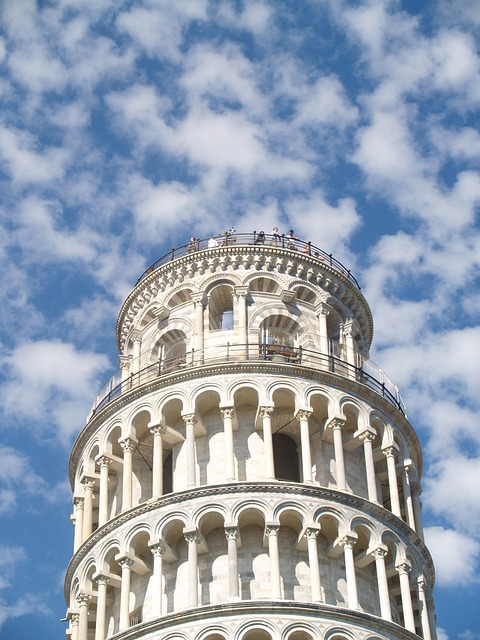 Italy, Pisa, Tower, Sky, Monuments, Buildings Italy
