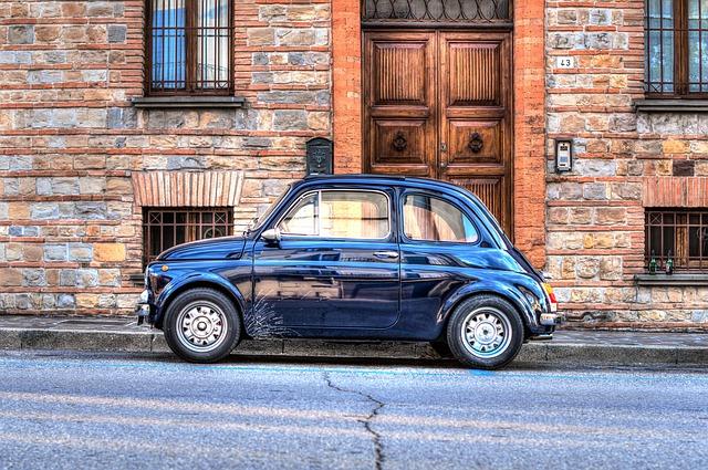 Mini, Car, Italy, Fiat, Street, Hdr, Vehicle, Transport